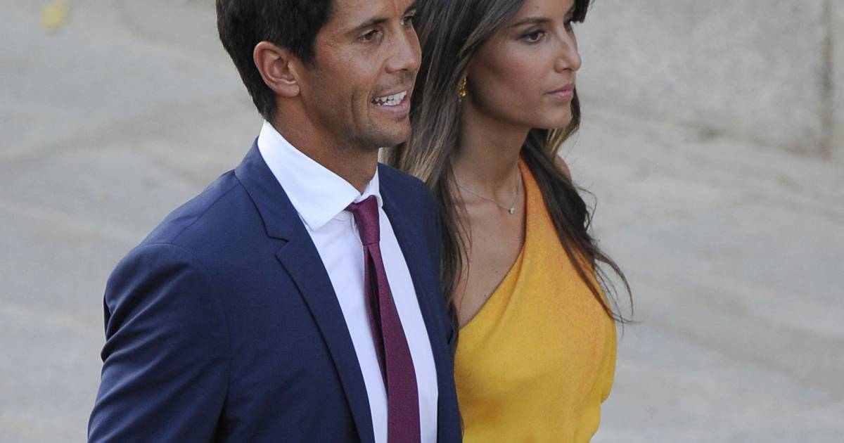 fernando verdasco et sa compagne ana boyer lors du mariage de feliciano lopez et alba carrillo. Black Bedroom Furniture Sets. Home Design Ideas