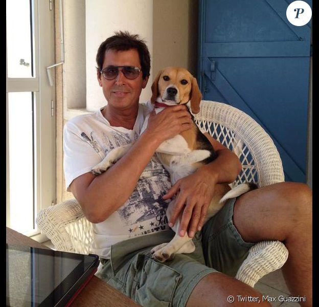 Max Guazzini et sa chienne Holy, perdu à Capbreton depuis le 19 juillet 2015.