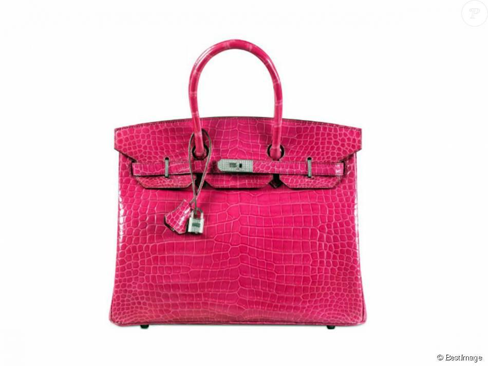 a36a4e6743f6 Un sac Birkin de Hermès, en peau de crocodile rose, a battu le ...