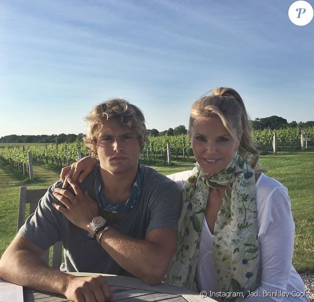 Jack Brinkley-Cook et sa maman Christie Brinkley, posent sur Instagram. Juin 2015