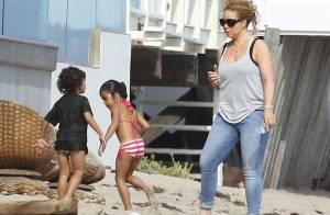 Mariah Carey et ses jumeaux à la plage : La star s'offre un break en famille