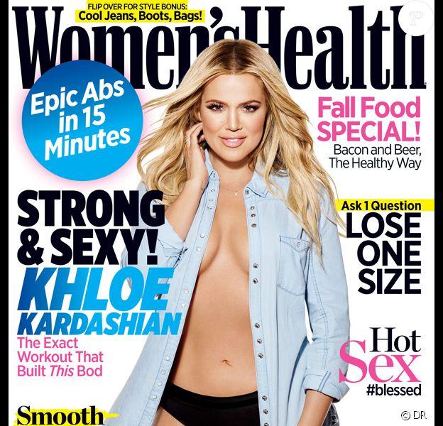 Khloé Kardashian photographiée par James White pour Women's Health. Numéro de septembre 2015.