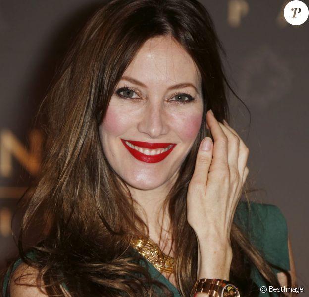 Mareva Galanter, enceinte à l'inauguration de l'hôtel The Peninsula in Paris le 16 avril 2015.