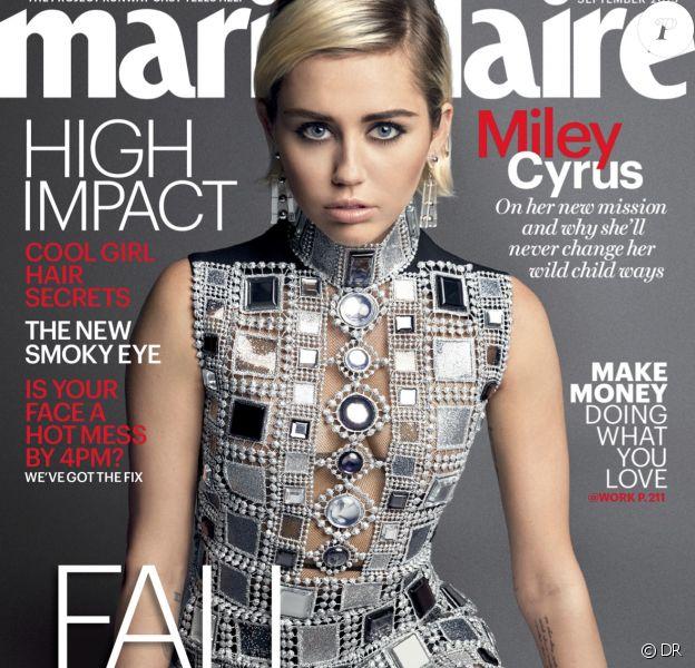 Retrouvez l'intégralité de l'interview de Miley Cyrus dans le prochain numéro du magazine Marie Claire en kiosques le 18 août aux Etats-Unis.