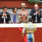 Elena d'Espagne, ses enfants et Juan Carlos : En mode corrida à San Sebastian...