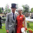 Jenson Button et Jessica Michibata lors du 2e jours du Royal Ascot le 20 juin 2012
