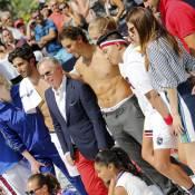 Rafael Nadal torse nu sur le terrain : Duel sexy avec la bombe Chanel Iman