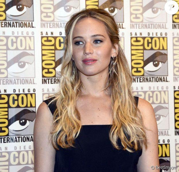 """Jennifer Lawrence - Présentation du film """"The Hunger Games : La révolte - Partie 2"""" au Comic-Con à San Diego. Le 9 juillet 2015"""