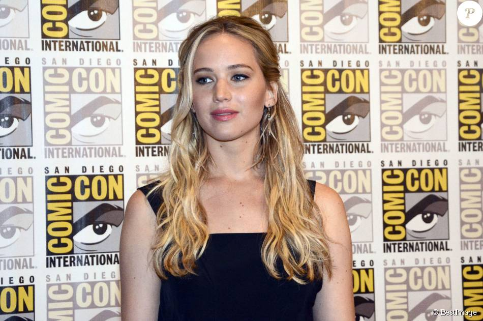 "Jennifer Lawrence - Présentation du film ""The Hunger Games : La révolte - Partie 2"" au Comic-Con à San Diego. Le 9 juillet 2015"
