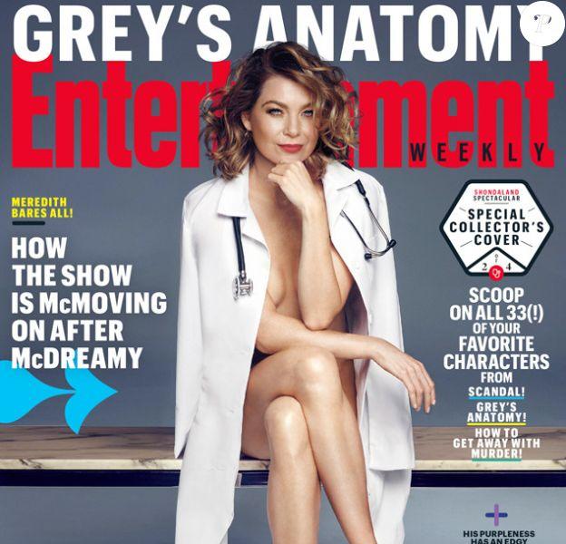 Ellen Pompeo en couverture de Entertainment Weekly. Septembre 2015