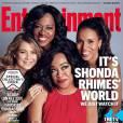 Shonda Rhimes, Kerry Washington, Ellen Pompeo et Viola Davis pour Entertainment Weekly. 2015