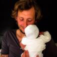 Amaury Leveaux avec son petit garçon - septembre 2015