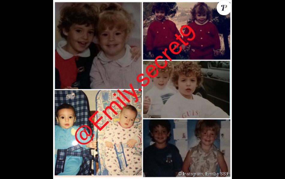Emilie et Loïc de SS9 lorsqu'ils étaient enfants.