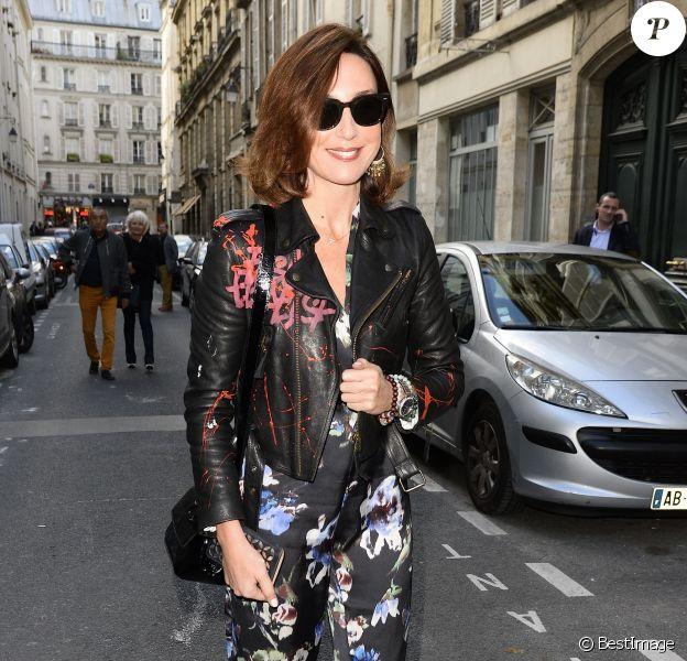 Elsa Zylberstein - Soirée du Nouvel An juif chez Marek Halter à Paris le 20 septembre 2015.