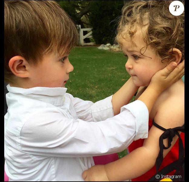 Milo et sa soeur Elizabella, le 22 septembre 2015