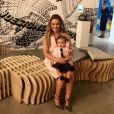 Alyssa Milano et sa fille Elizabella sur Instagram. Septembre 2015