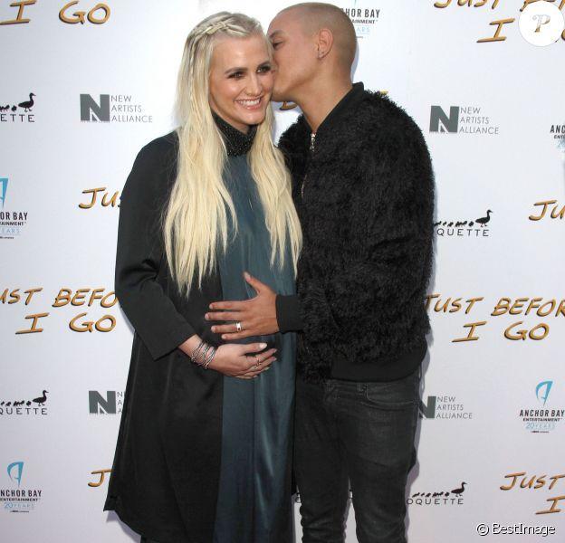 Ashlee Simpson, enceinte et son mari Evan Ross à la première de «Just Before I Go» à Hollywood, le 20 avril 2015