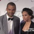 Tony Parker tenait son Par Coeur Gala au Pavillon d'Armenonville à Paris le 14 septembre 2015, aux côtés de son épouse Axelle, et de ses amis Omar et Hélène Sy