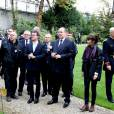 Le prince Albert II de Monaco était reçu à Matignon par Manuel Valls le 19 septembre 2015 à l'occasion des Journées du patrimoine et du tricentenaire du mariage de Louise-Hippolyte Grimaldi avec Jacques de Matignon.