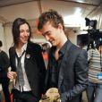 Renan Luce et Lolita Séchan, la fille de Renaud, dans les coulisses des Victoires de la Musique, le 8 mars 2008.