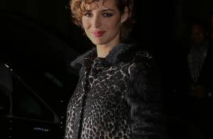 Fashion Week : Louise Bourgoin ravissante et féline au défilé Lanvin