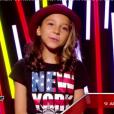 Estelle éliminée dans  The Voice Kids , le vendredi 2 octobre 2015, sur TF1.