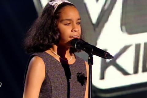 """The Voice Kids 2 - Jane, non voyante : """"J'ai subi des moqueries au collège"""""""