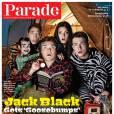 """JAck Black en couverture du magazine """"Parade"""", octobre 2015."""