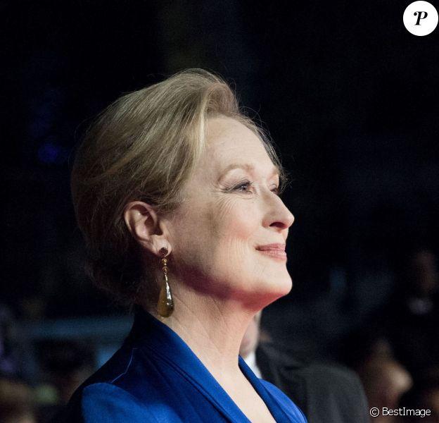 """Meryl Streep - Avant-première du film """"Les Suffragettes"""" à l'Odéon Leicester Square à Londres. Le 7 octobre 2015"""