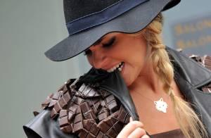 Sophie Tapie : Pétillante en tenue gourmande pour le Salon du Chocolat