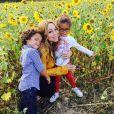 Mariah Carey et ses enfants, les jumeaux Monroe et Moroccan / photo postée sur le compte Instagram de la chanteuse américaine.