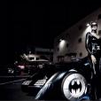 Ciara et son compagnon Russell Wilson, déguisés en Catwoman et Batman pour une soirée d'anniversaire surprise et costumée au Warner Bros Studio Tour. Burbank, le 24 octobre 2015.