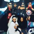 Kelly Rowland, Ciara, Lala Anthony, Beyoncé et Serena Williams déguisées pour la soirée costumée célébrant l'anniversaire de Ciara (30 ans) au Warner Brothers Studio Tour. Burbank, le 24 octobre 2015.