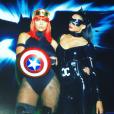 Lala Anthony et Ciara lors de la soirée costumée célébrant l'anniversaire de la chanteuse (30 ans) au Warner Brothers Studio Tour. Burbank, le 24 octobre 2015.