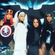 Lala Anthony, Beyoncé et Kelly Rowland assistent à la soirée costumée célébrant l'anniversaire de Ciara (30 ans) au Warner Brothers Studio Tour. Burbank, le 24 octobre 2015.