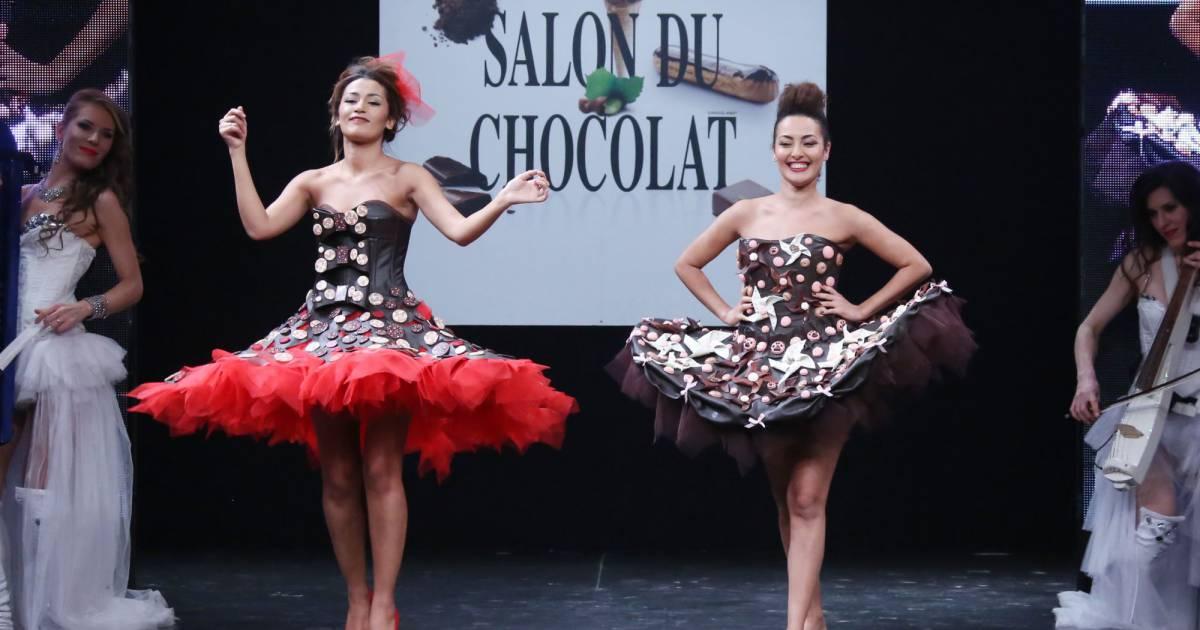 Karima charni et sa soeur hedia charni d fil du 21 me - Salon du chocolat porte de versailles ...