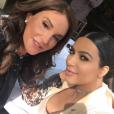 Caitlyn Jenner, 66 ans, et son ex-belle-fille Kim Kardashian déjeunent à la Villa. Photo publiée le 28 octobre 2015.