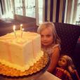 La fille de Tori Spelling, Hattie fête ses 4 ans / photo postée sur le compte Instagram de l'actrice.