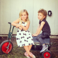 Hattie et Finn, les enfants de Tori Spelling / photo postée sur le compte Instagram de l'actrice.