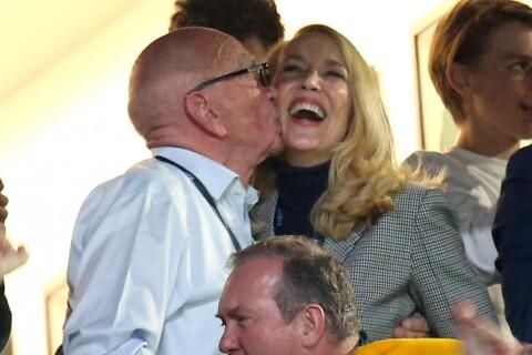 Jerry Hall et Rupert Murdoch en couple ? Le bisou qui fait jaser
