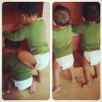 Zoe Saldana poste une photo de ses jumeaux, Cy et Bowie. (photo le 28 octobre 2015)