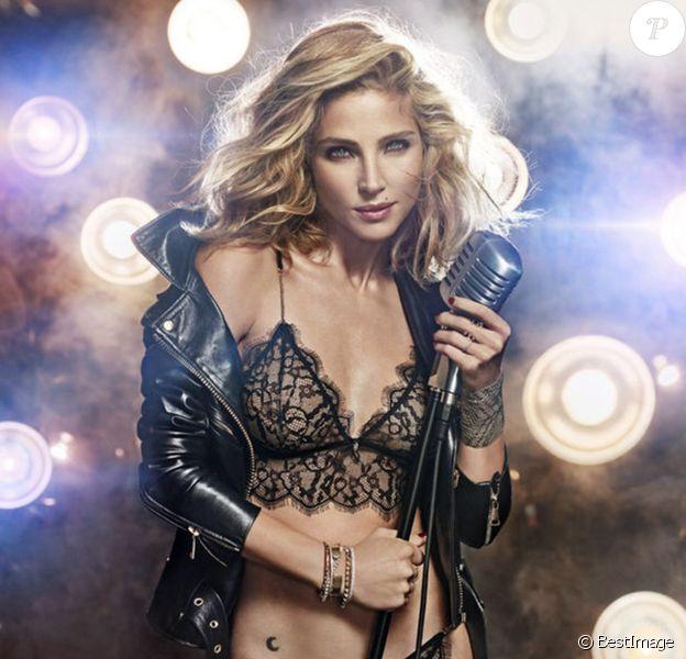 L'actrice Elsa Pataky, chanteuse torride en lingerie et veste en cuir sur sa deuxième campagne pour la marque espagnole women'secret.
