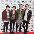 Bradley Simpson, Tristan Evans, James McVey et Connor Ball de The Vamps - Tapis rouge des BBC Teen Awards à Londres, le 8 novembre 2015.