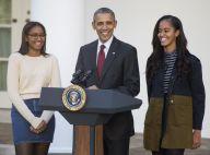 Barack Obama : Tradition et bonne humeur avec Malia et Sasha pour Thanksgiving