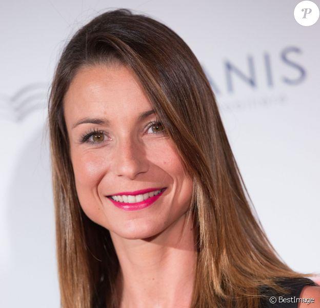 Jennifer Lauret, au pavillon d'Armenonville à Paris, le 24 septembre 2015.