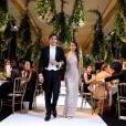 Exclusif -Sonia Ben Ammar (robe Chanel Haute Couture, bijoux Payal New York) et son cavalierAlix Fez - Défilé - Vingt-troisième édition du Bal au Palais de Chaillot à Paris, le 28 novembre 2015. © Le Bal/Jacovides/Borde/Moreau/Bestimage