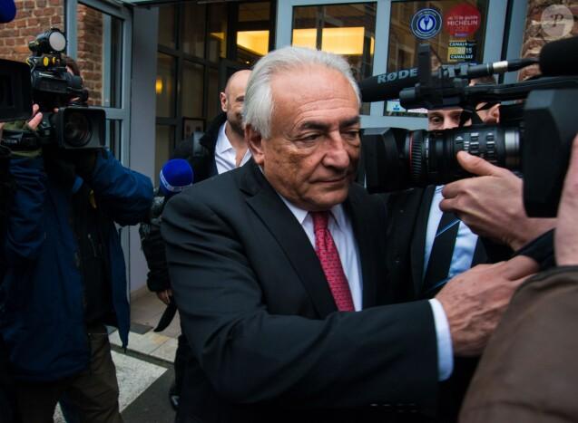 Dominique Strauss-Kahn à Lille le 12 février 2015 lors de son procès pour proxénétisme aggravé
