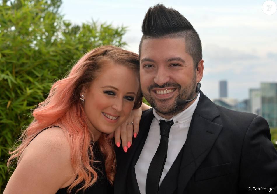 Exclusif - Chris Marques et sa fiancée Jaclyn Spencer, à Boulogne-Billancourt, le 31 août 2015