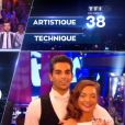 Priscilla et Christophe Licata lors de la finale de Danse avec les stars 6, sur TF1, le mercredi 23 décembre 2015