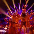 Olivier Dion et Candice Pascal lors de la finale de Danse avec les stars 6, sur TF1, le mercredi 23 décembre 2015